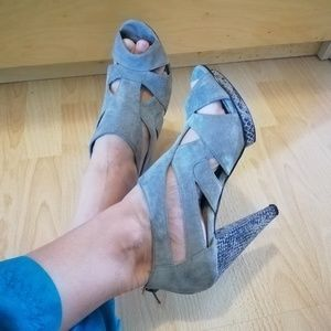 Attitude grey suede shoes size 7